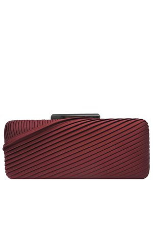Wine Pleated Minaudiere by Sondra Roberts for $25   Rent the Runway