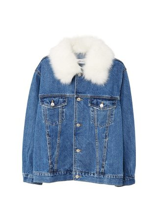 MANGO Embroidered denim jacket