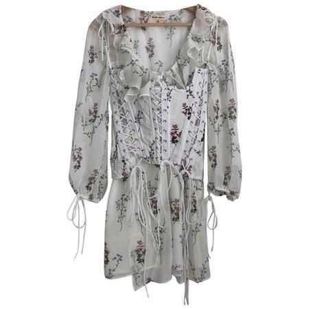 Mini dress For Love & Lemons White size XS International in Cotton - 9790078