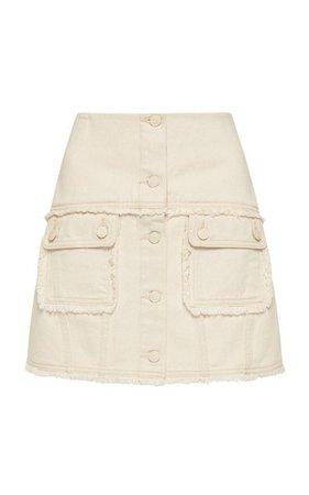 Yolo Denim Mini Skirt By Alémais   Moda Operandi