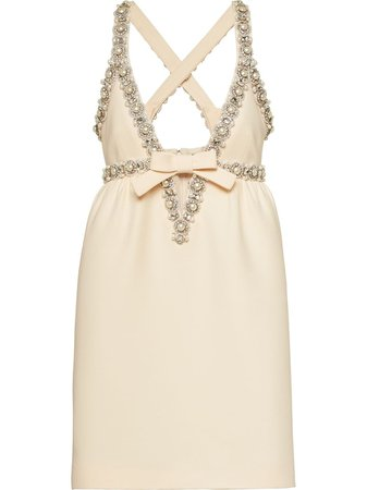 Miu Miu, Pearl And Crystal-Embellished Dress