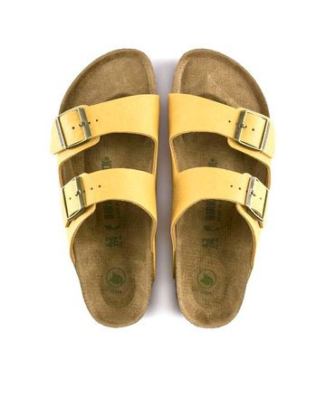 yellow birkenstock sandals