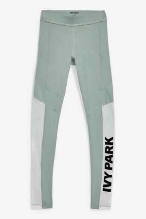 Sheer Flock Logo Leggings by Ivy Park - New In Fashion - New In - Topshop