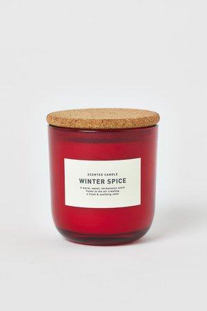 Doftljus i glasbehållare - Röd/Winter Spice - Home All | H&M SE