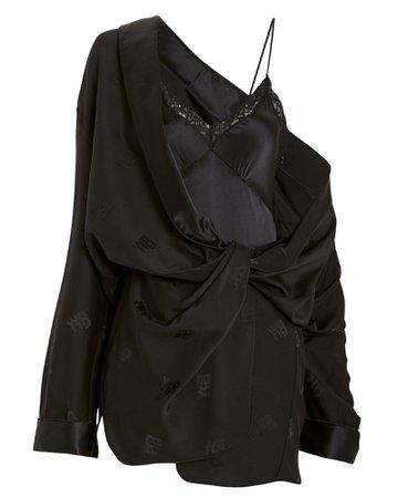 Alexander Wang | Silk Jacquard Shirt Dress