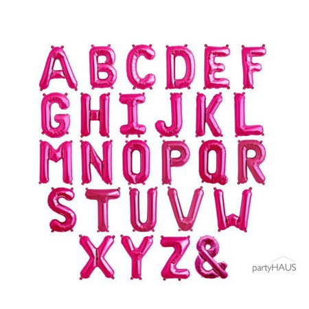 Pink Letter Balloons 13.5 or 34 Magenta Pink Letters