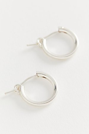 Girls Crew Sterling Silver Chubby Hoop Earring | Urban Outfitters