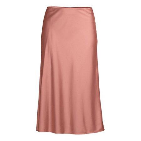 Scoop - Scoop Women's Midi Slip Skirt - Walmart.com - Walmart.com pink