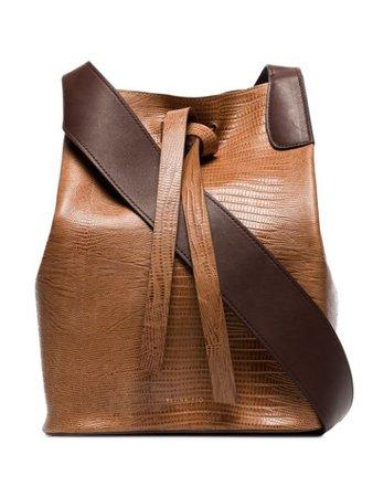 Rejina Pyo Mariene Lizard-effect Shoulder Bag | Farfetch.com