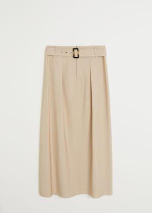 Belt long skirt - f foLong Women | Mango USA
