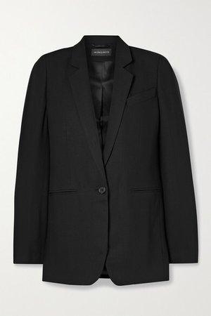 Wool-twill Blazer - Black