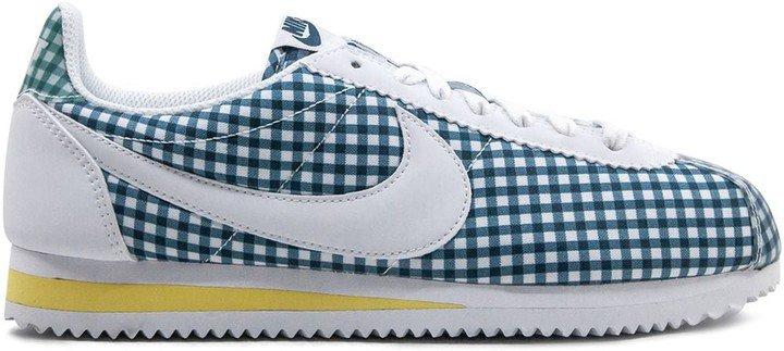 Cortez gingham low-top sneakers