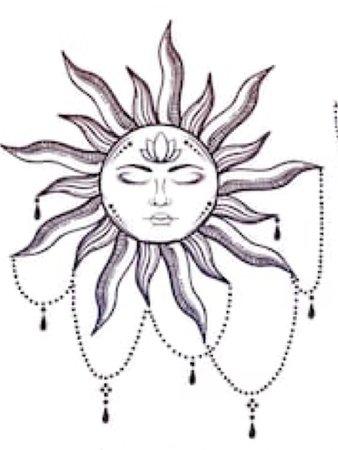 boho sun tattoo