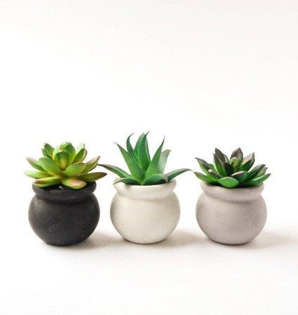 Succulent Pot Concrete Planter Small Plant Holder Air | Etsy