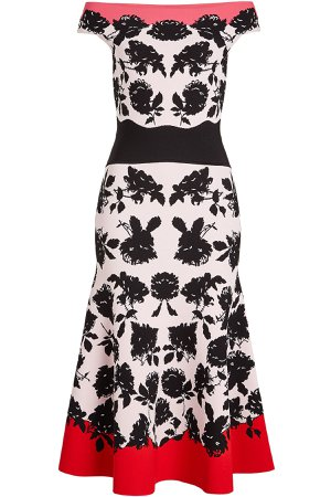 Intarsia Off-Shoulder Dress Gr. S