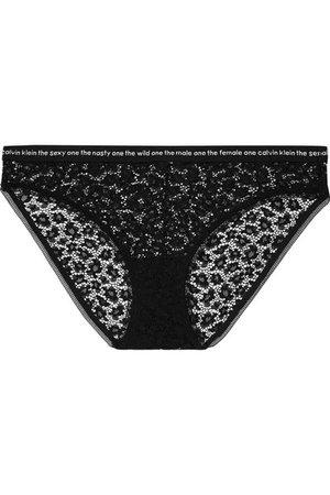 Calvin Klein Underwear | Intarsia-trimmed stretch-lace briefs | NET-A-PORTER.COM