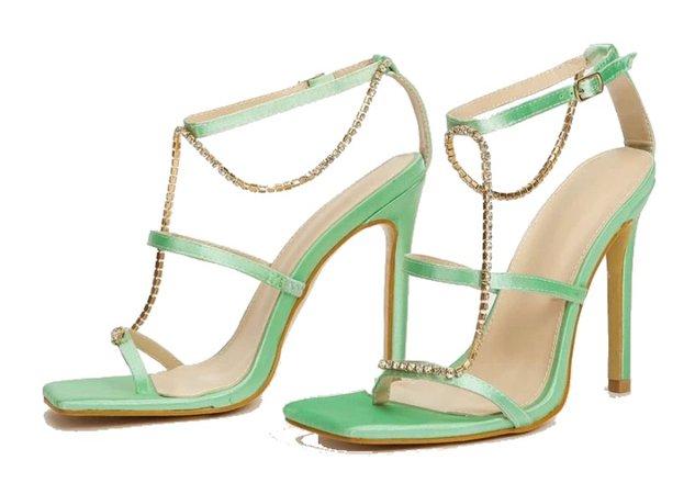 shein green heels