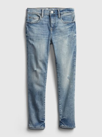 Kids Distressed Skinny Jeans with Washwell™ | Gap