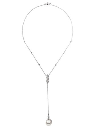 Yoko London 18kt White Gold Starlight South Sea Pearl And Diamond Necklace - Farfetch