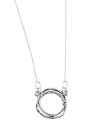 Sterling Silver Double Sphere Necklace By Headcovers.com