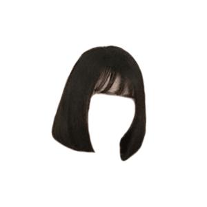 Black Shorts Bangs Hair PNG