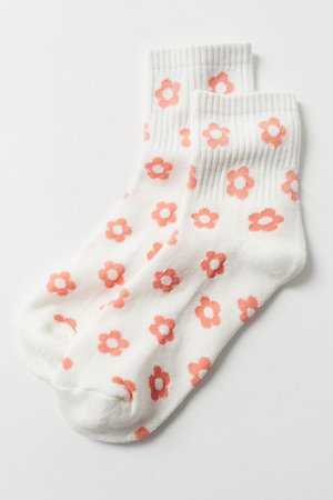 Allover Floral Crew Sock | Urban Outfitters