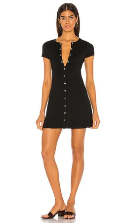 Lovers + Friends Leroy Mini Dress in Black   REVOLVE