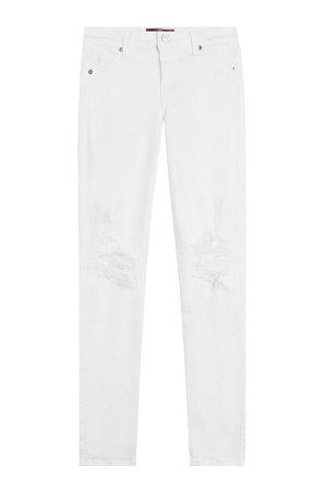 Distressed Skinny Jeans Gr. 27