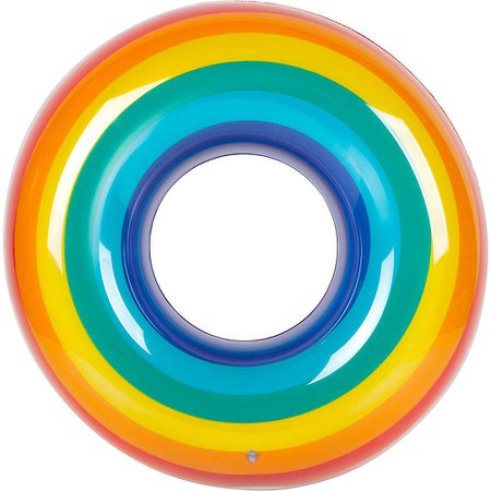 Giant Rainbow Pool Float 43 1/2in x 43 1/2in | Party City Canada