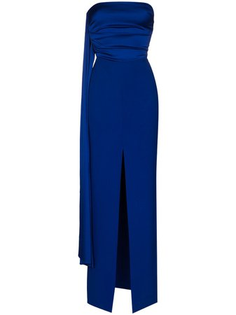 Solace London Harlow Sash Evening Gown - Farfetch