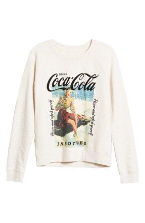 Lucky Brand Coca-Cola® Crewneck Cotton Sweatshirt