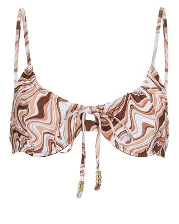 Palm Swimwear Viper Printed Bikini Top | INTERMIX®