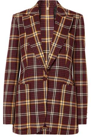 Burberry | Checked wool blazer | NET-A-PORTER.COM
