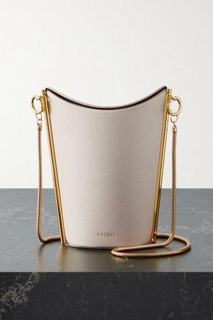 Pitta Leather Shoulder Bag - Off-white