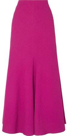 Crepe Maxi Skirt - Fuchsia