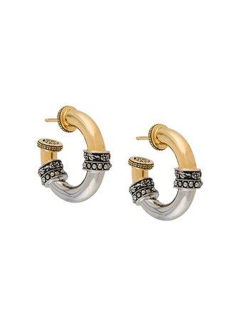 Alexander McQueen bi-colour Hoop Earrings - Farfetch