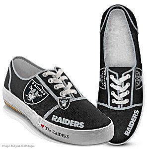 I Love The Oakland Raiders NFL Womens Shoes