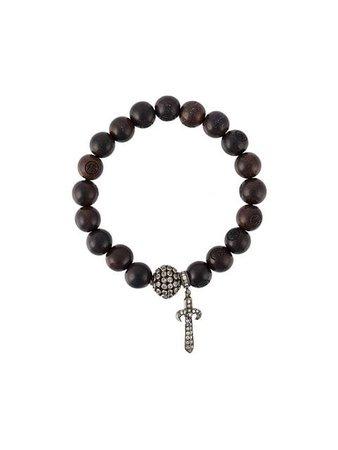 Loree Rodkin Carved Wooden Beaded Bracelet