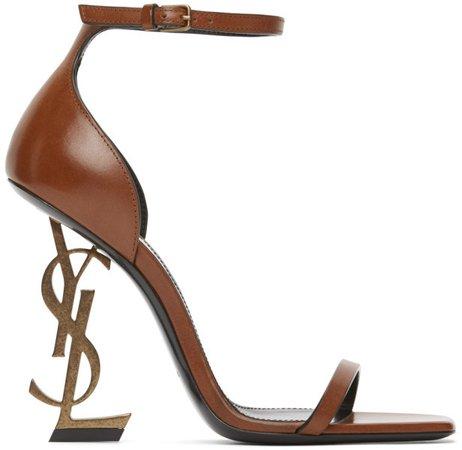 Brown Opyum 110 Heeled Sandals