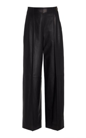 Leather Straight Leg Pants By Vince   Moda Operandi