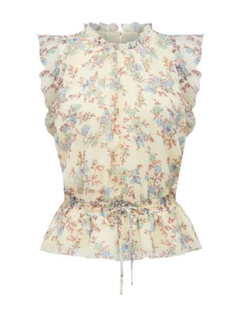 Portia Ruffle Floral Tank Top - Womens Fashion Online | Ever New Clothing
