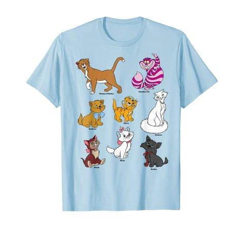 Amazon.com: Disney Mickey And Friends Cats Portraits T-Shirt: Clothing