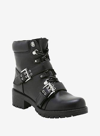 Hardcore Double Buckle Combat Boots