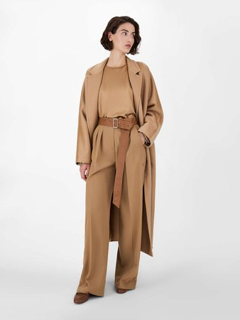 "Double hand-stitched pure cashmere coat, camel - ""ANDORRA"" Max Mara"