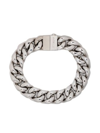 Shop silver AMBUSH curb-chain 7 bracelet with Express Delivery - Farfetch