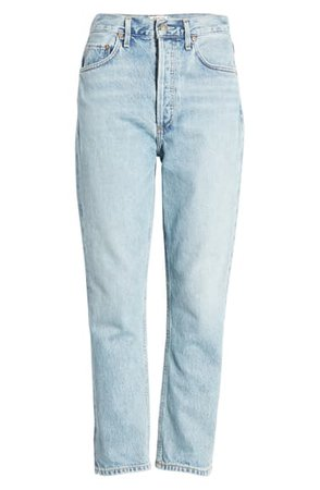 AGOLDE Riley High Waist Crop Straight Leg Jeans (Renewal) | Nordstrom