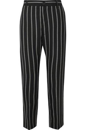 Vivienne Westwood | James Bond cropped striped wool slim-leg pants | NET-A-PORTER.COM