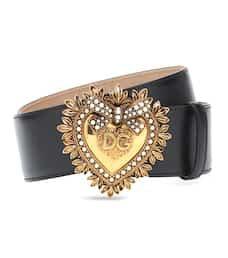 Dolce & Gabbana - Devotion leather belt   Mytheresa