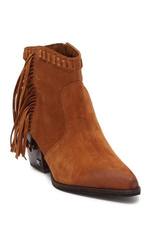 Sam Edelman | Willice Suede Leather Fringe Bootie | Nordstrom Rack