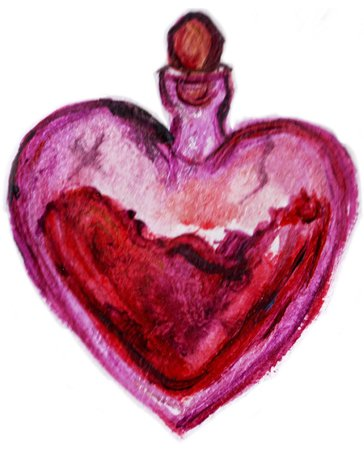 Love Spell Heart Potion Bottle Witchcraft Wicca (@wisteriablossom)